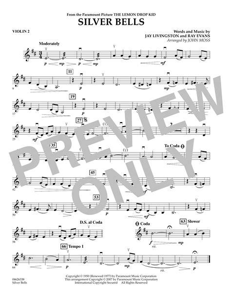 Silver-Bells-ViolinSheet-Music