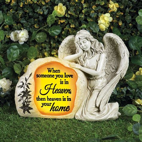 Solar Power Memorial Statue Angel Garden Stake Outdoor Lamp Yard Decor LED Light | Watches Store Online Reviews