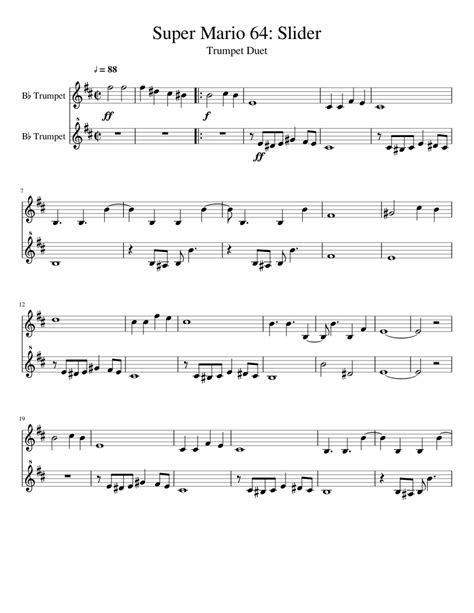 SuperMario-Trumpet-Sheet-Music
