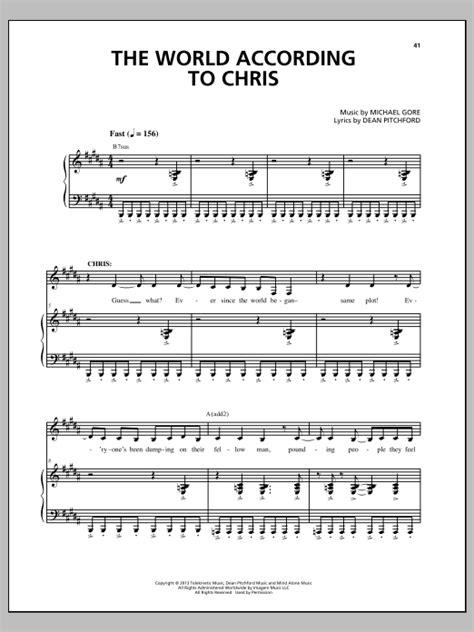 The-World-According-To-Chris-Sheet-Music-Free