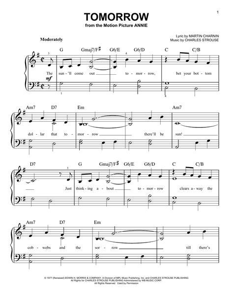Tomorrow-PianoSheet-Music