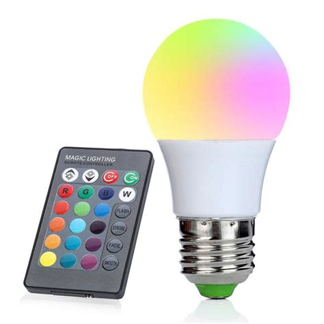 US 3W E27 LED RGB Light Bulb 16 Color Changing Magic Lamp Remote Control | Watches Store Online Reviews