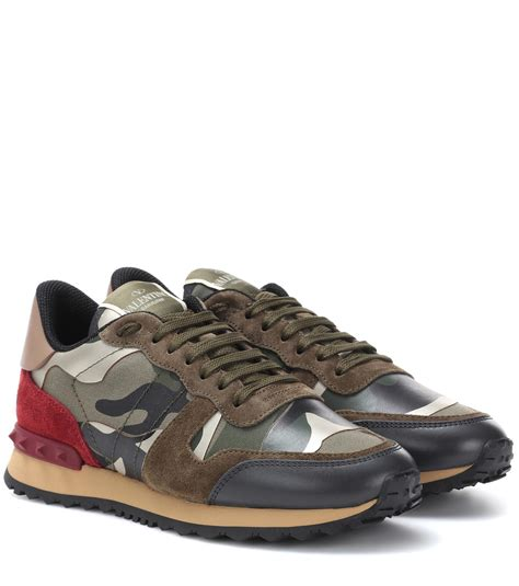 Valentino Rockrunner Camo & star print denim Shoes mens Sneakers Sz 10 | Watches Store Online Reviews