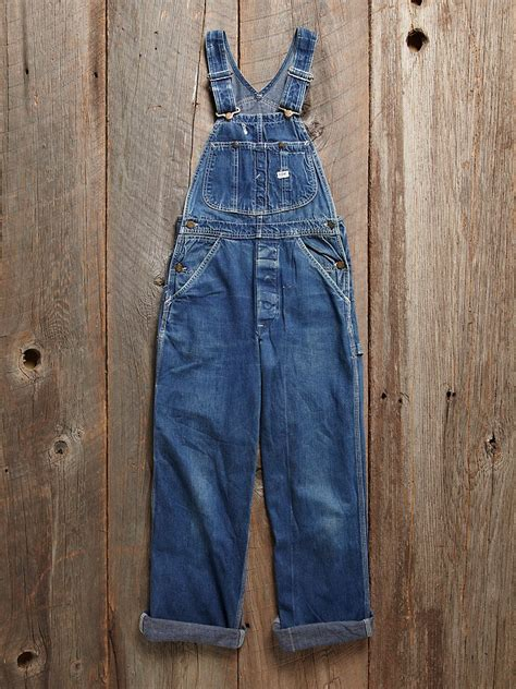 Vintage LEE Workwear denim jean farmer rancher BIB Overalls USA MADE 32 X 32 | Gps Store