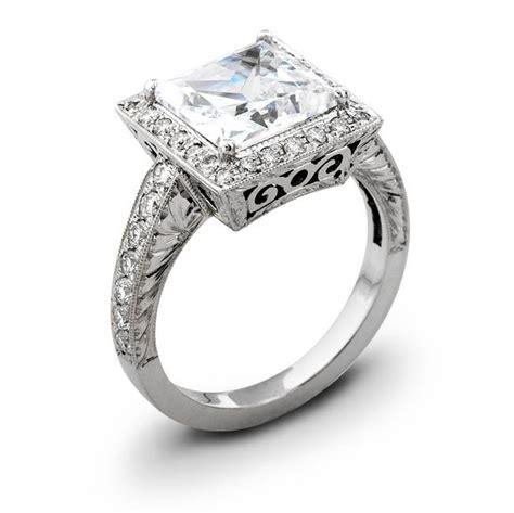 Vintage-Princess-CutHalo-Engagement-Ring