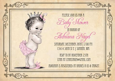 Vintage-PrincessBaby-Shower-Invitations