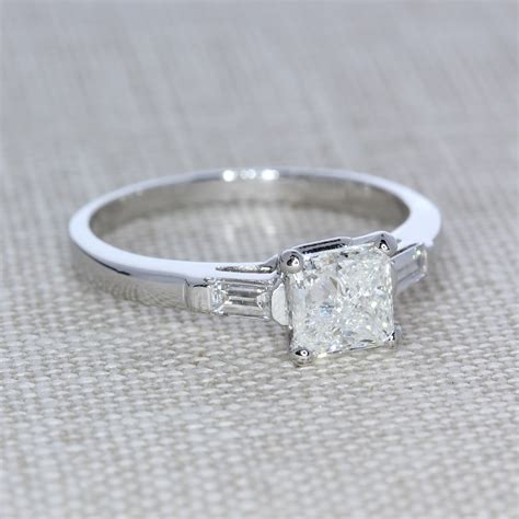 Vintage-StylePrincess-Cut-Engagement-Rings