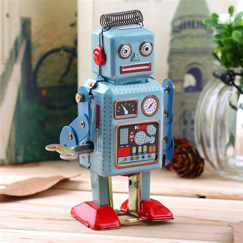 Walking Robot 7 Vintage Tin | Watches Store Online Reviews