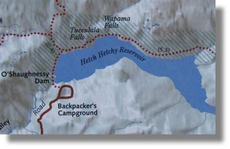Wapama Falls Map