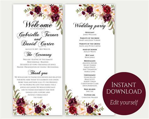 WeddingProgram-Sheet