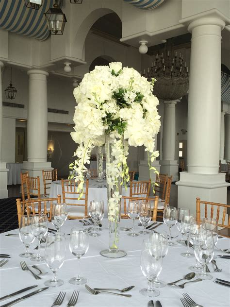 White Dendrobium Orchid Wedding Centerpieces