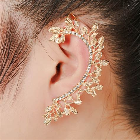 Women Vintage Leaf Ear Cuff | Watches Store Online Reviews