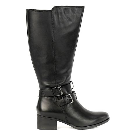 Women Large Calf Leather Boots