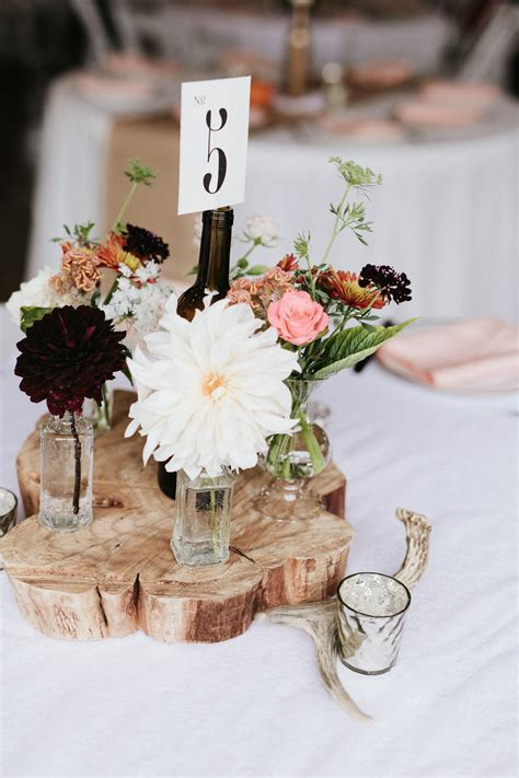 Wood-FlowerCenterpieces