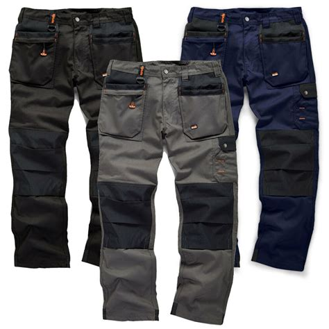 Work Trousers SOLID BLACK Hardwearing Workwear | Gps Store
