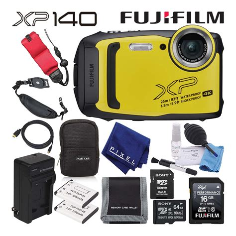 XP140 Waterproof Yellow Digital Camera Bundle | Digital Cameras