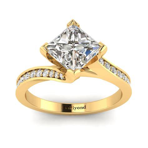 Yellow-GoldCushion-Cut-Engagement-Rings
