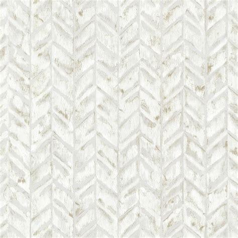 Chesapeake Bison Off White Herringbone Off White Wallpaper Sample 3118 25094sam The Home Depot